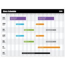 Class Schedule Template 15
