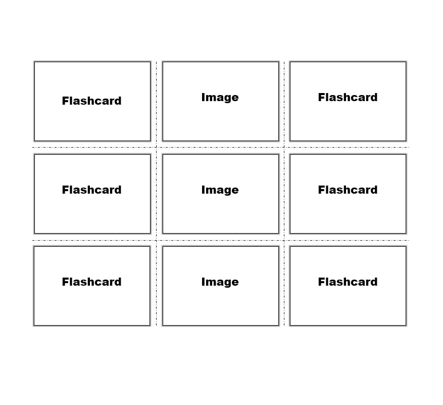 graphic regarding Printable Index Cards 3x5 identify 30 Very simple Index / Flash Card Templates [Free of charge] - Template Archive