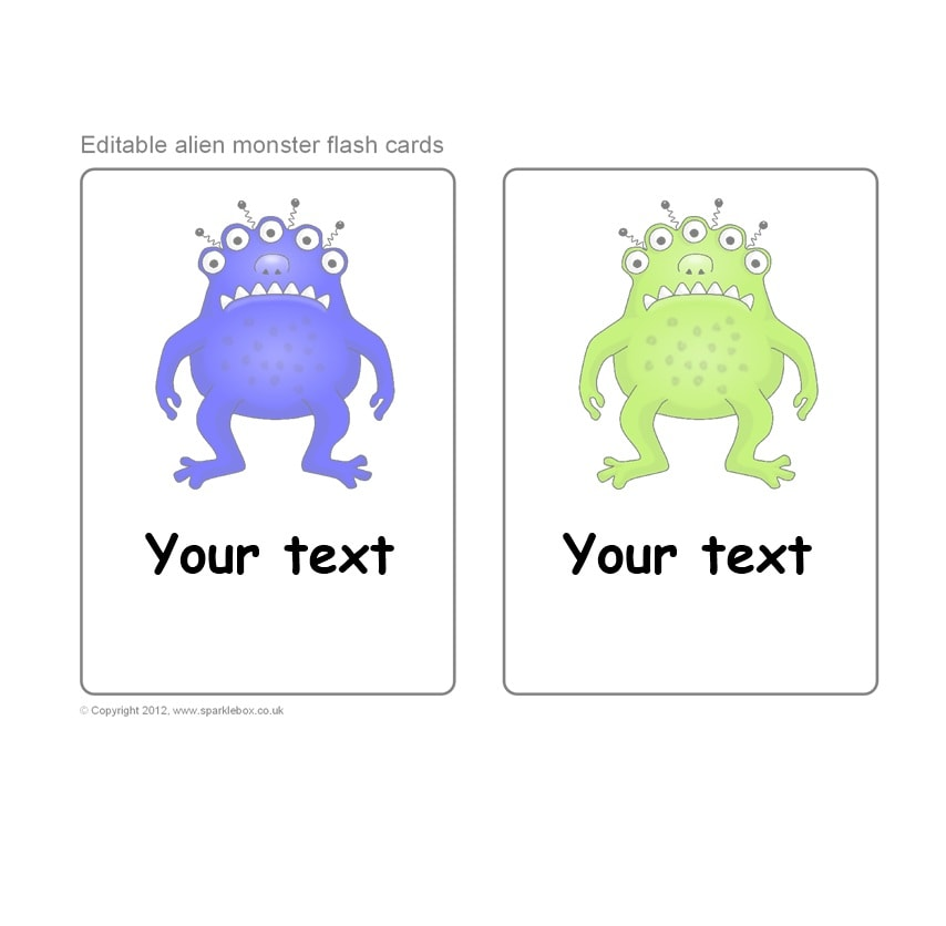 Word Flashcard Template from templatearchive.com