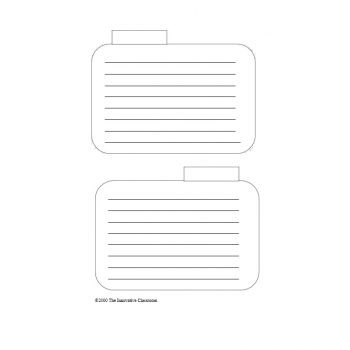 Index Card Template 13