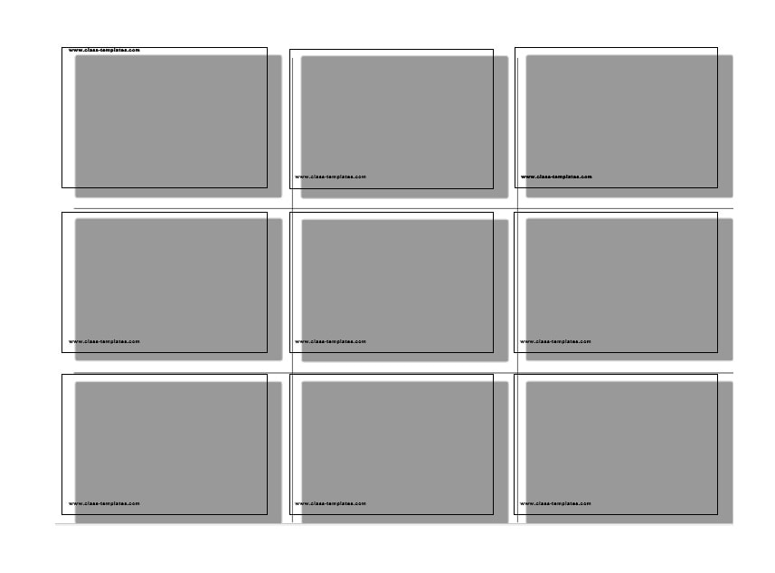 Index Card Template 24