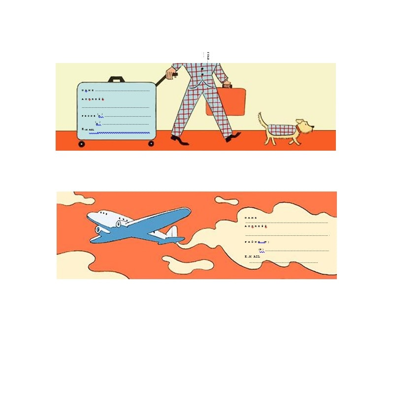 Luggage Tag Template 13