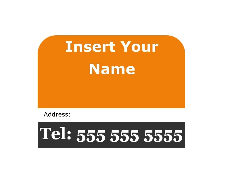 Luggage Tag Template 16