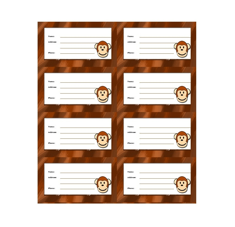 Luggage Tag Template 22