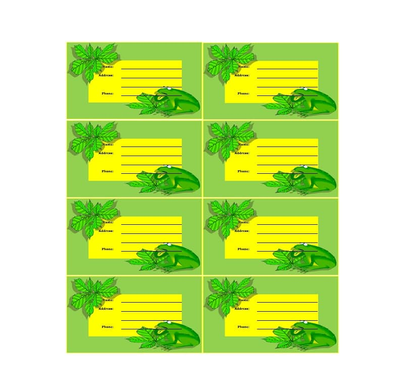 Luggage Tag Template 34
