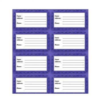 Luggage Tag Template 35