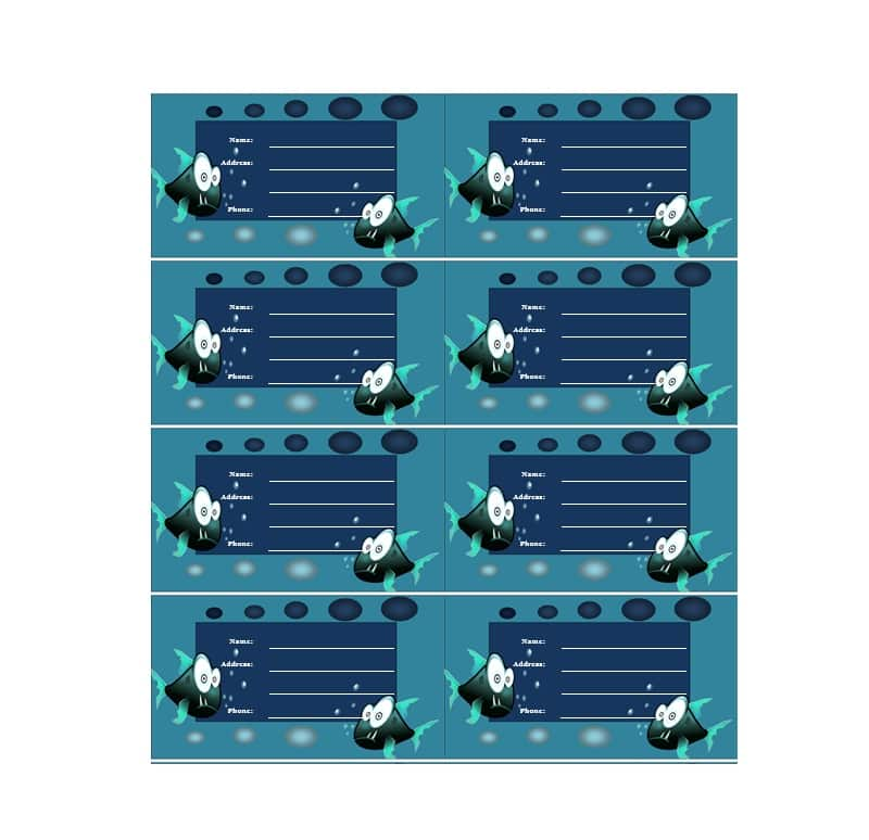 Luggage Tag Template 36