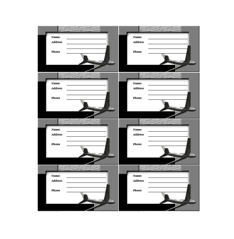 Luggage Tag Template 45