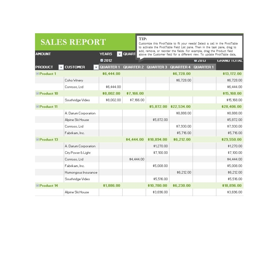 Sales Report Template 05