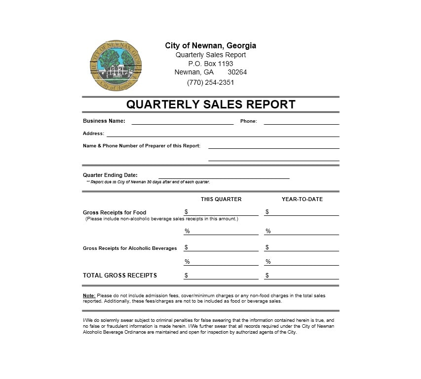 Sales Report Templates Daily Weekly Monthly Salesman Reports