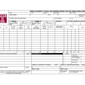 Travel Expense Report Template 06