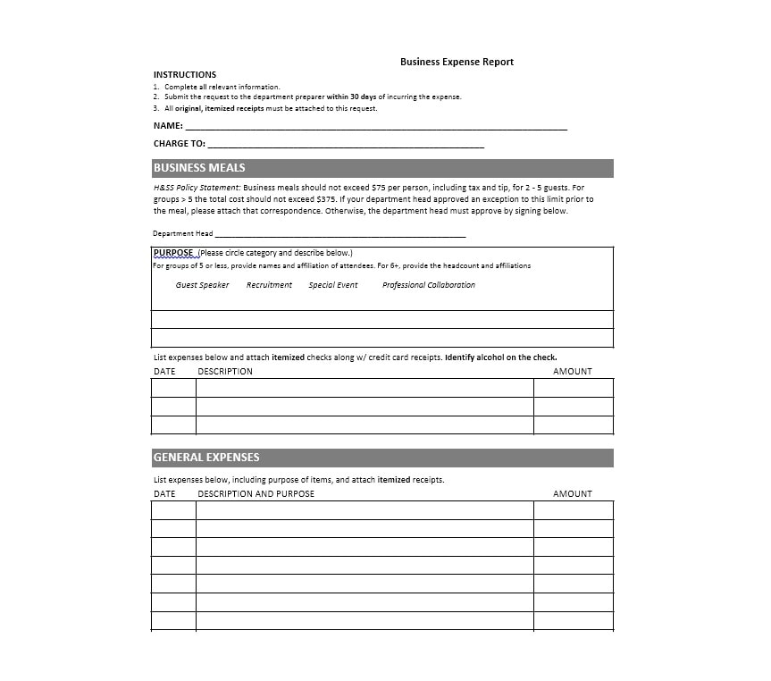 Travel Expense Report Template 10