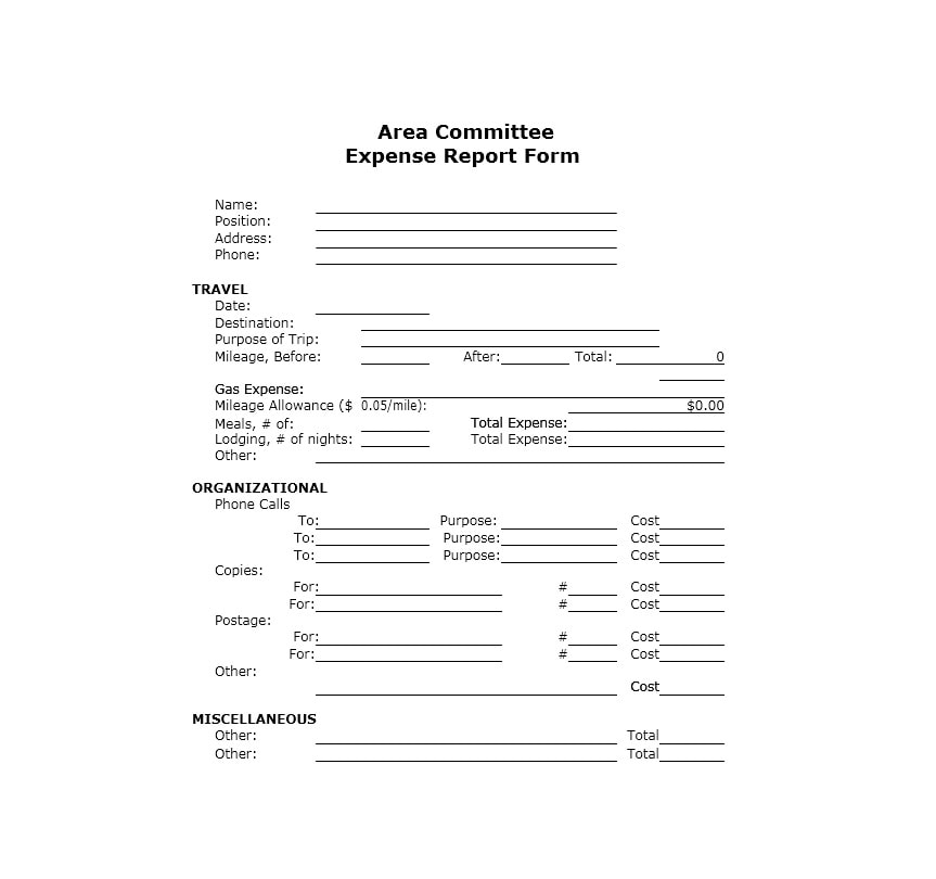 Travel Expense Report Template 18