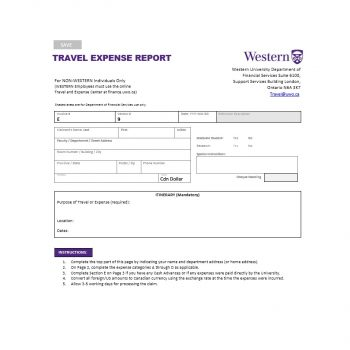 Travel Expense Report Template 21