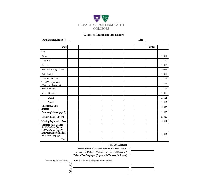 Travel Expense Report Template 23