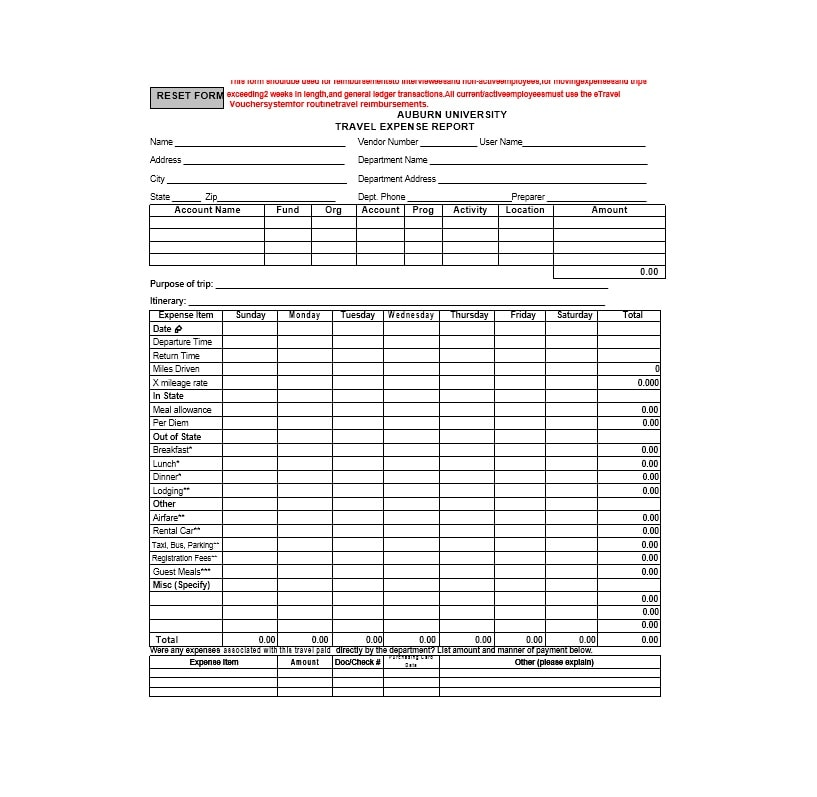Travel Expense Report Template 31