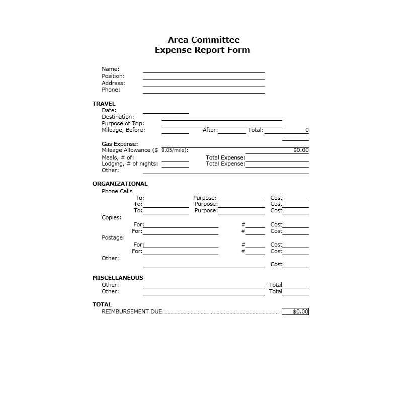 Travel Expense Report Template 33