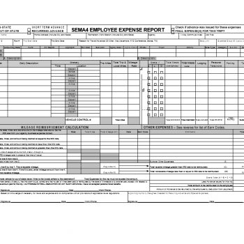 Travel Expense Report Template 37
