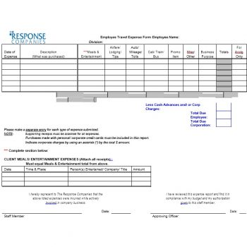 Travel Expense Report Template 38