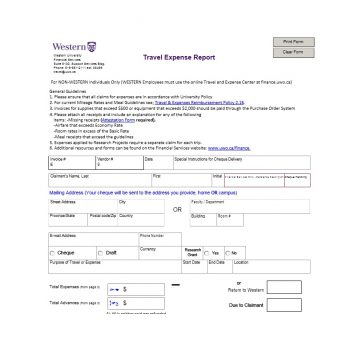 Travel Expense Report Template 46