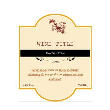 Wine Label Template 03