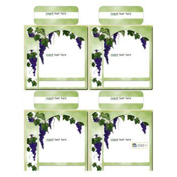 Wine Label Template 07