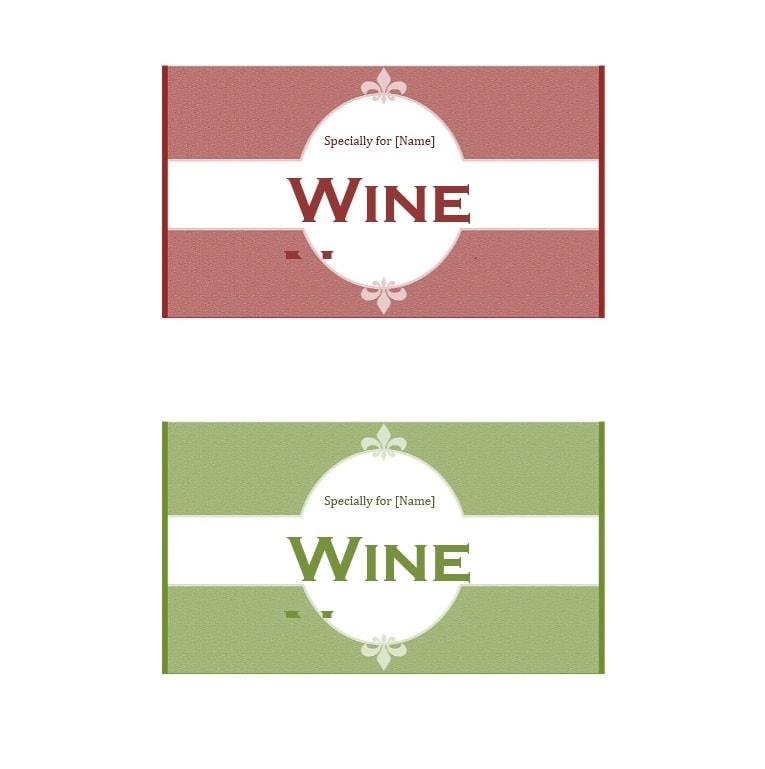 Wine Label Template 12