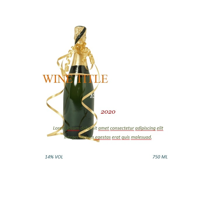 Wine Label Template 13