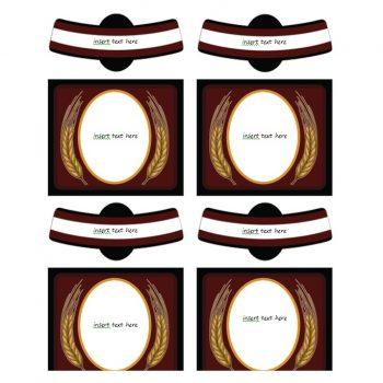 Wine Label Template 16
