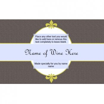 Wine Label Template 33