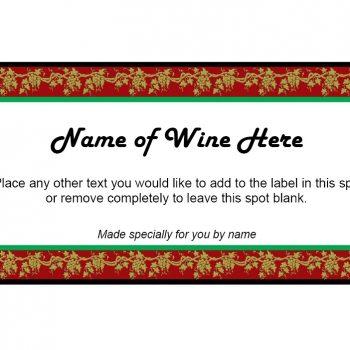 Wine Label Template 34