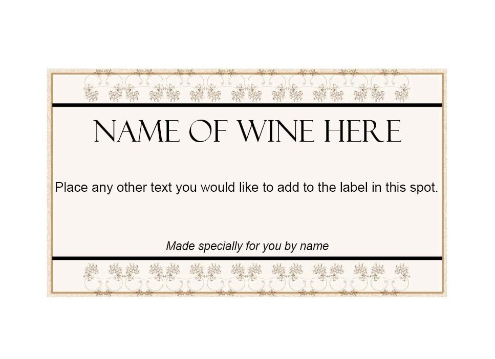 Wine Label Template 37