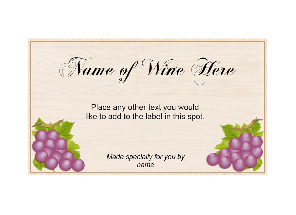 40 Free Wine Label Templates Editable Template Archive