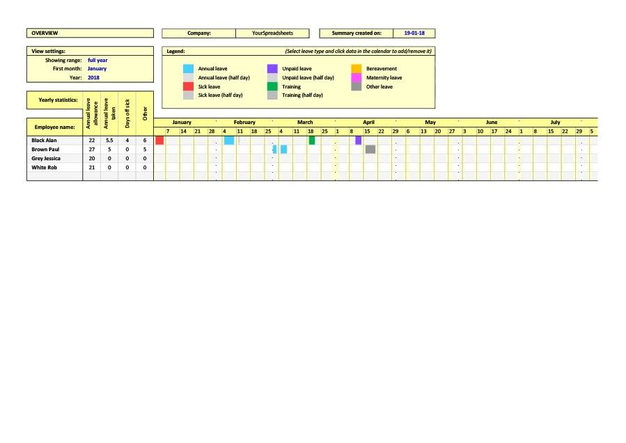 40+ FREE Attendance Tracker Templates [Employee, Student