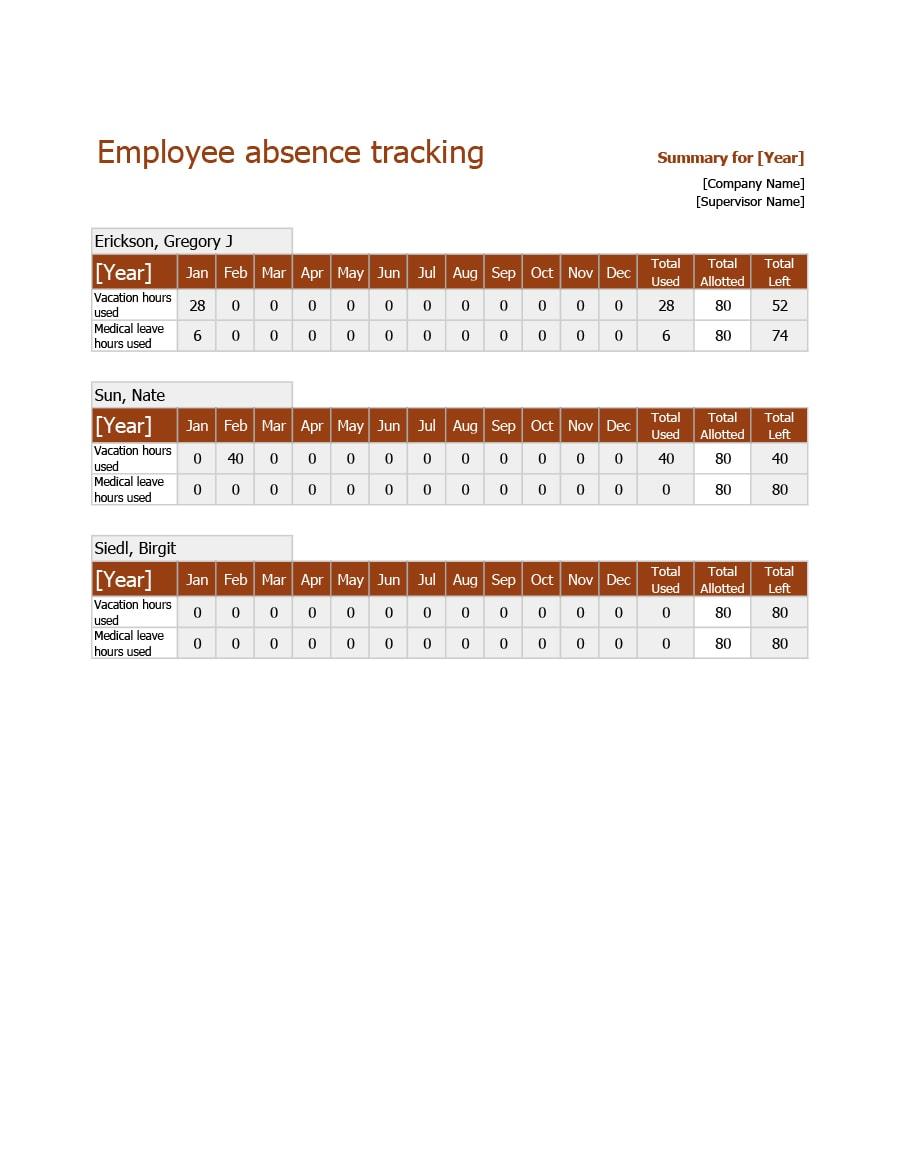 attendance tracker 09