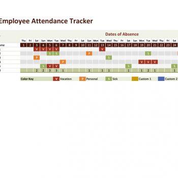 attendance tracker 10