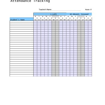 attendance tracker 14