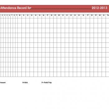 attendance tracker 18
