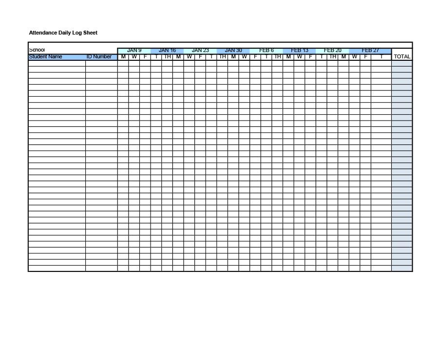 40  free attendance tracker templates  employee  student