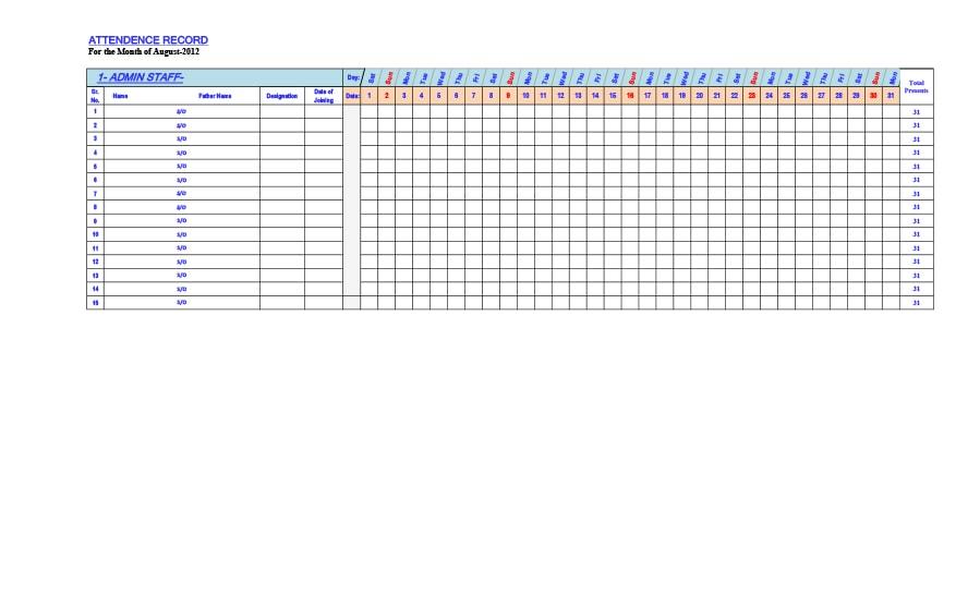 attendance tracker 23