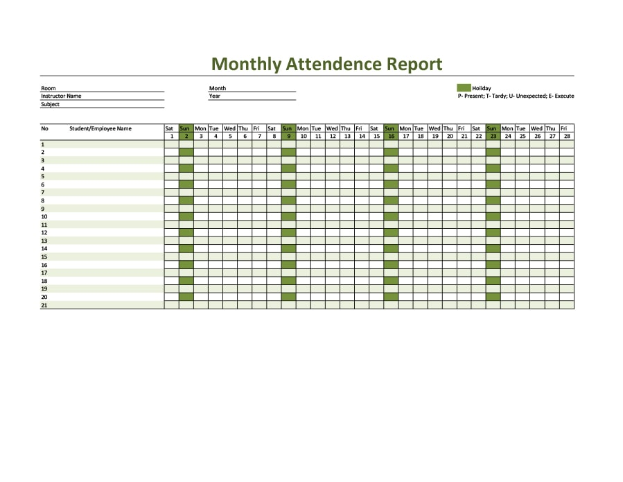 40 free attendance tracker templates employee student meeting