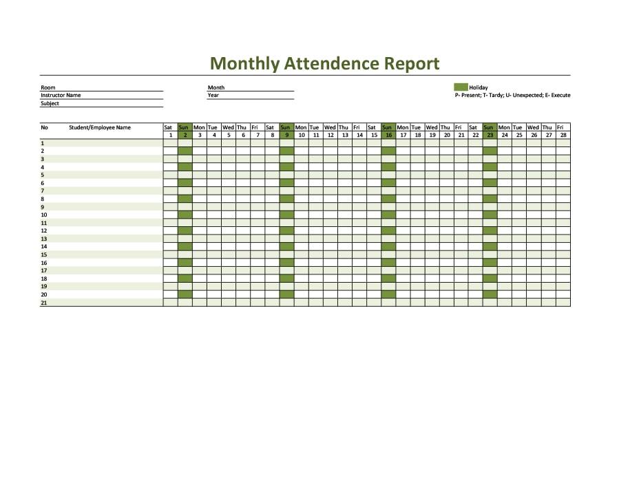 attendance tracker 26