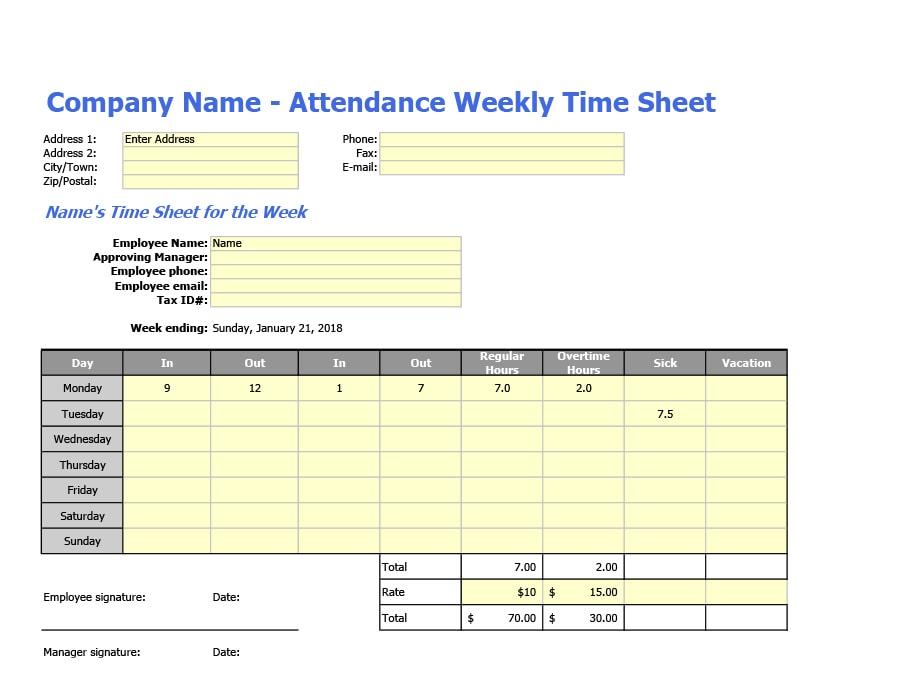 attendance tracker 29