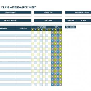 attendance tracker 31