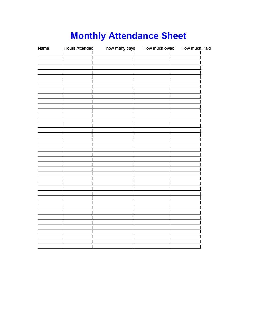 attendance tracker 33