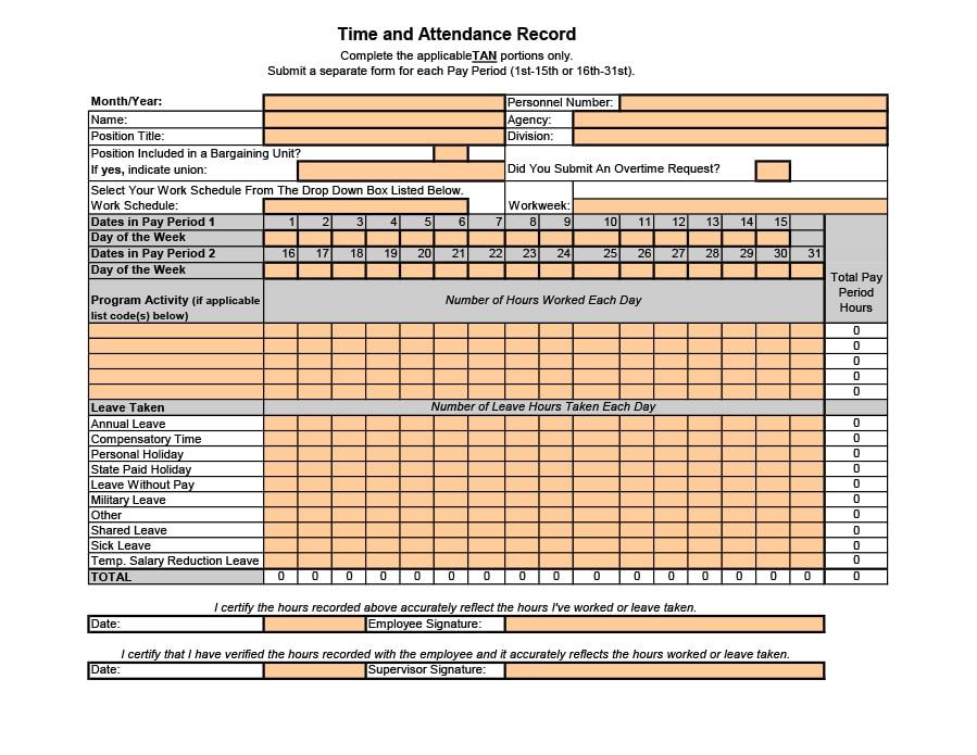 40+ FREE Attendance Tracker Templates [Employee, Student ...