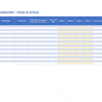 inventory list template 06