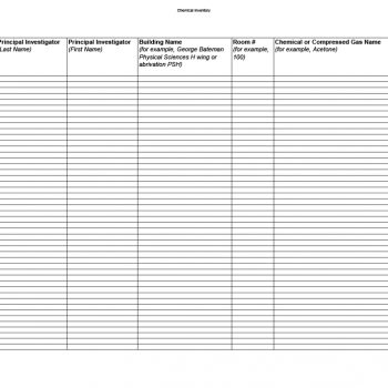 inventory list template 14