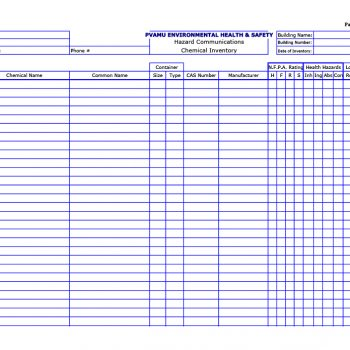 inventory list template 17