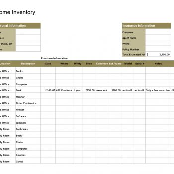 inventory list template 23